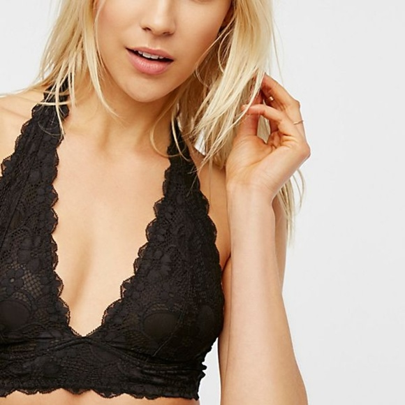 1e5f7bc71c20e Free People Other - Free People Galloon Lace Halter Bra in Black
